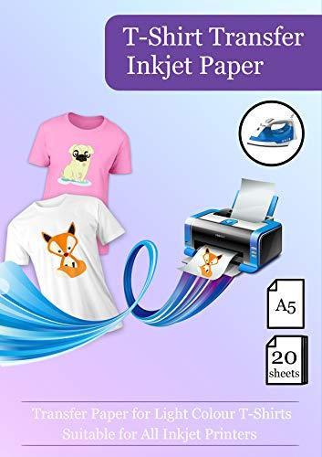 A5(148x 210mm) Hohe Qualität Inkjet Eisen zu Transfers Papier/T Shirt überträgt-Für Farbe T Shirt -
