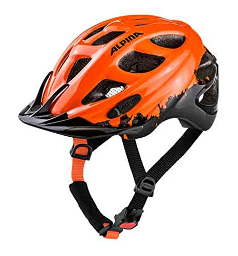 Alpina Fahrradhelm Kinderhelm Rocky orange-Black GR:47-52 cm 2019