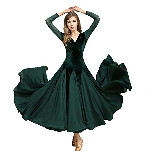 ZXYYUE Damen Ballsaal Tanz Praxis Kleider Walzer Moderne Social Tanz Outfit Tango Flamenco Performance ()