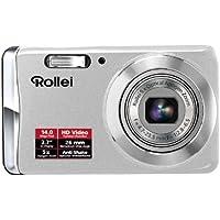 Rollei Compactline 390 Kompaktkamera (14 Megapixel, 5-fach optischer Zoom, 26 mm Weitwinkelobjektiv, 6,85 cm (2,7 Zoll ) Display ) silver
