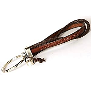 Schlüsselanhänger Wunschtext Leder Art. 91