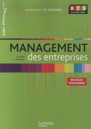 BTS 2e année, Management des entreprises
