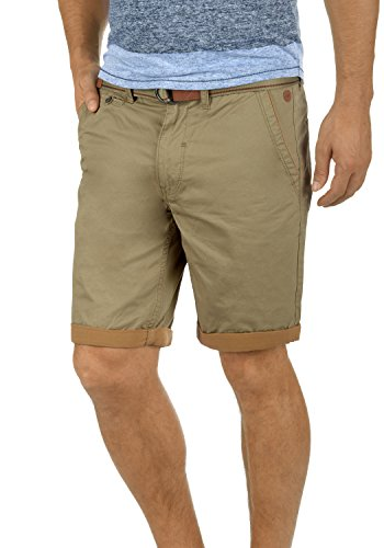 BLEND Neji Herren Shorts kurze Hose Basic-Shorts aus 100% Baumwolle, Größe:L, Farbe:Lead Gray (70036) (Grays Baumwoll-shorts)