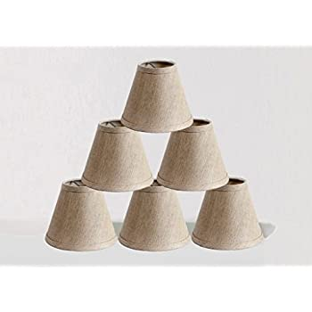 Oxford 6 Quot Cream Linen Clip On Candle Lampshade Amazon Co