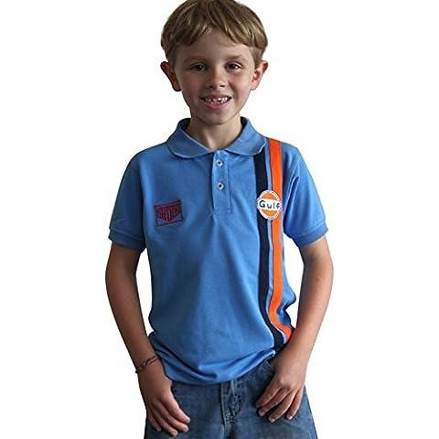 Grandprix Originals Kids Gulf Stripe Polo Cobalt