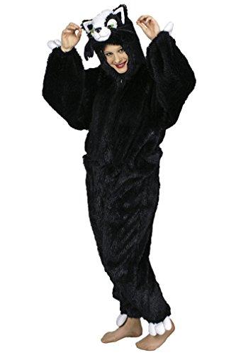 Kätzchen-Kostüm-Plüsch in grau | Größe 46/48-50/54 | Katzen-Kostüm -