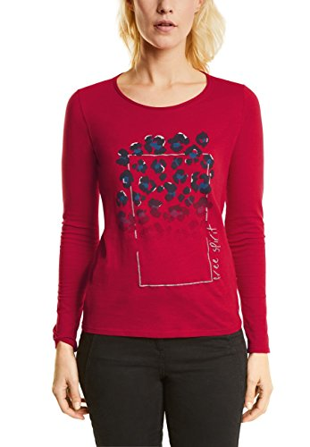 Cecil Damen Langarmshirt 311732, Rot (Salsa Red 31198), XX-Large