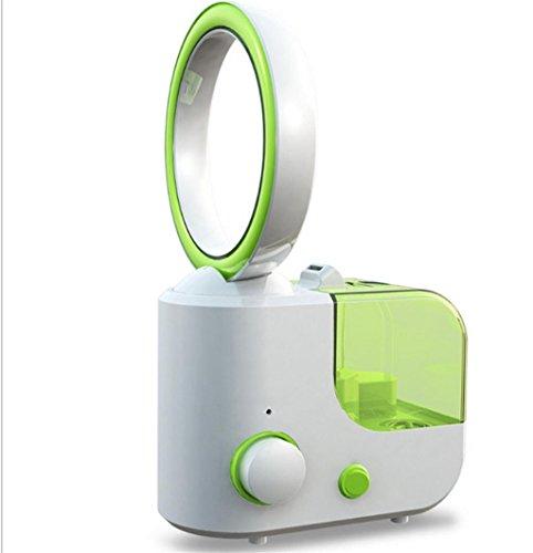 Natood Bladeless Fan Luftbefeuchter Mini Creative Luftbefeuchter Klimaanlage Luftreiniger 31.5 * 15cm Leistung 32W , green