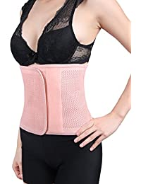sourcingmap® Pink Mesh Postpartum Belly Abdominal Shaping Belt Waist Wrapping Shaper Cincher Corset Shapewear