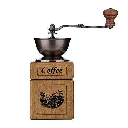 Broyeur à main / broyeur de café / machine à café à la maison / broyeur à main / petit moulin à main (8,8 * 19,8 cm)