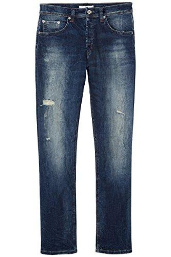 FIND Jeans Herren mit schmalem Bein und Distressed-Look Blau (Hardin Damaged Wash)