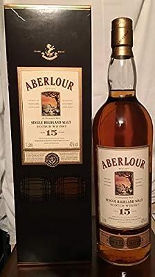 Aberlour 15yo with case old bottle 1L