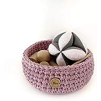 Panera de los tesoros con pelota en tonos rosa/malva