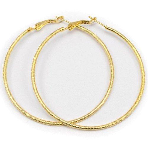 rund, Ohrringe, 6cm, goldfarben ()