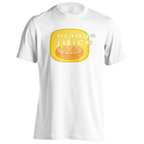 Nuova Novità Saporita Di Succo D'Arancia Uomo T-shirt l353m White