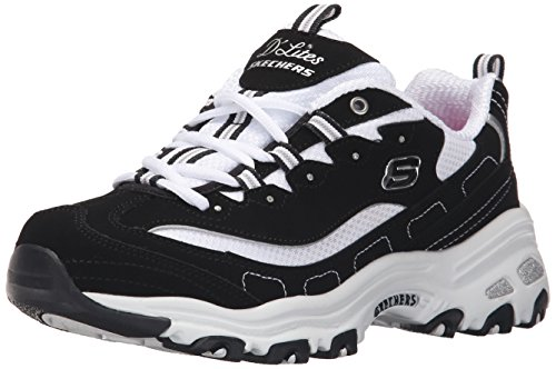 Skechers D'Lites-Biggest Fan, Scarpe da Ginnastica Donna, Nero (Black 11930-Bkw), 39 EU
