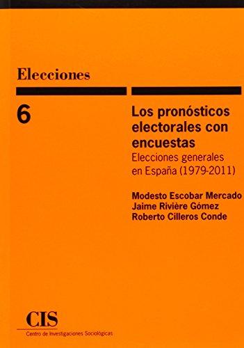 Pronósticos electorales con encuestas,Los (Elecciones)