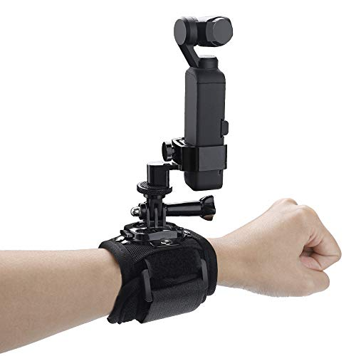 Hensych Portable Wrist Strap Fixed Base Mount Adapter for GoPro 3 4 5 6 7 for DJI OSMO Pocket Gimbal,for GoPro Action Camera Expansion Module Accessories