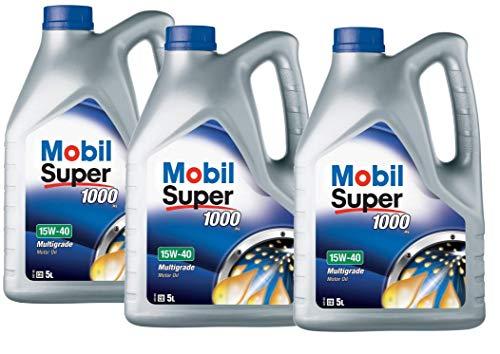 Mobil 151180 Super 1000 X1 - Olio Motore 15W-40, Confezione da 15 Lit