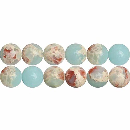 Blau Imperial Jaspis 6mm Gefärbt Edelstein Rund Perlen für Schmuckherstellung 38cm Strang Approx 60 Stück