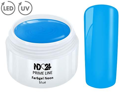 5ML - PRIME LINE - UV Farbgel NEON BLUE French Color Gel Modellage Nail Art Design Nagel Blau Studio Qualität - MADE IN GERMANY