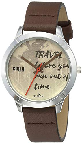 Gully by Timex Globetrotter Analog Blue Dial Women's Watch-TW000T618