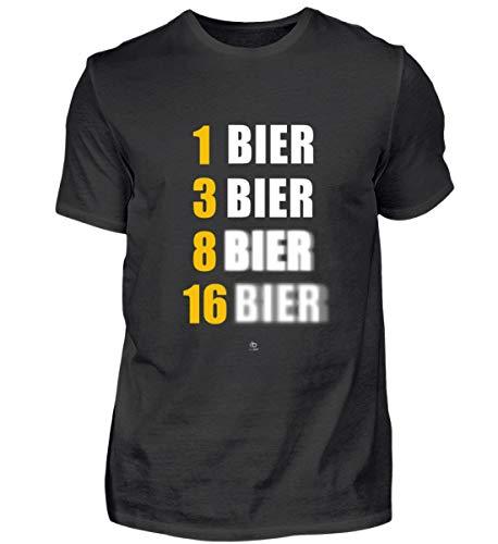 Lustig Bier Saufen Saufer Kostüm Alkohol Bierkrug Bierglas Bier brauen Beer Pong Geschenk - Herren Shirt -L-Schwarz