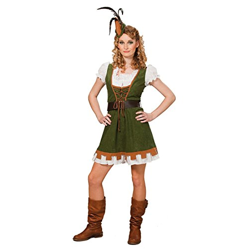 Robin Kostüm Miss - PARTY DISCOUNT NEU Damen-Kostüm Miss Robin, grün, Gr. 46