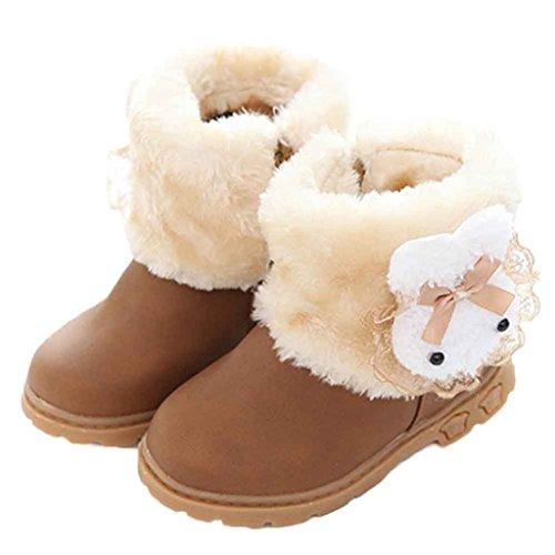 Clode® Mädchen Nette Art und Weisewinter Baby Kind Art Baumwollstiefel warme Schnee Aufladungenc Gelb