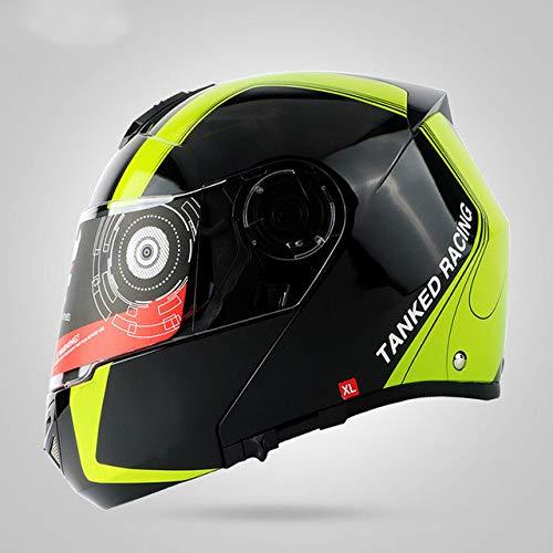 Nuevo Motocicleta Motocicleta Motocicleta Casco Todoterreno Casco Flip Helmet Protector, Cubierta Antipolvo...
