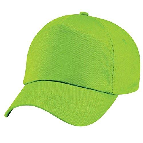 Beechfield Junior Original 5 Panel Cap One Size,Lime Green -