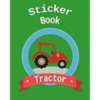 Sticker Book Tractor: Blank Permanent Sticker Book