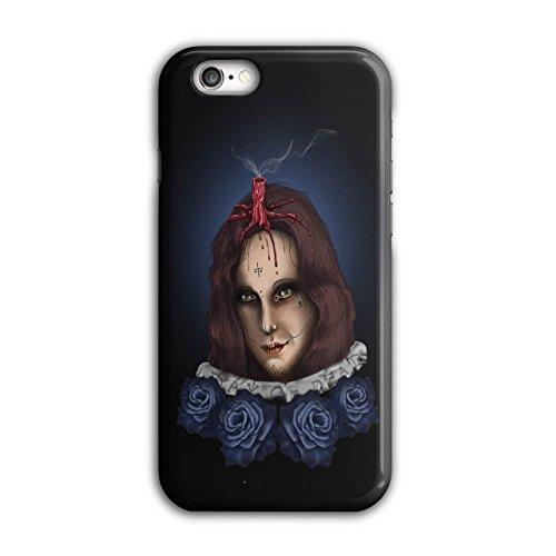 Mädchen Halloween Horror Gesicht Blume iPhone 6 / 6S Hülle | (Iphone Halloween Kostüm 6)
