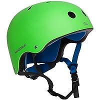 HUDORA Skateboard-Helm, Fahrradhelm, grün, Gr. 51-60