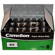 Camelion 6F22 MN1604 Super Heavy Duty - Pilas de bloque (12 unidades, 9 V)