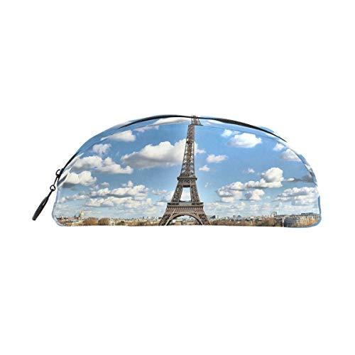 MUOOUM Paris Federmäppchen, Eiffelturm, halbrund, für Schule, Büro (Zeichnung Eiffelturm Leicht)