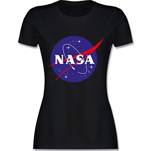 Statement Shirts - NASA Meatball Logo - S - Schwarz - L191 - Tailliertes Tshirt für Damen und Frauen T-Shirt