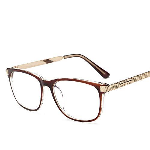 YMTP Optische Gläser Rahmen Vintage Männer Lesen Brille Frames Frauen Shades Metall Quadratische Dekoration Brillen
