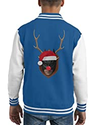 Batman Christmas Antler Head Kid's Varsity Jacket