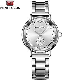 HWCOO Hermoso Relojes de Pulsera Mini Focus/Reloj de Cuarzo para Mujer con Diamantes incrustados