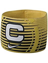 Nike Captain's Armband Yellow Black White Elastic Velcro Swoosh Officialial