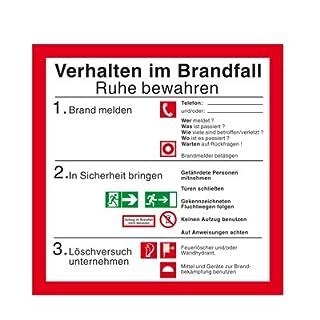 Betriebsaushang - Aushang - Hinweisschild - Brandschutzzeichen