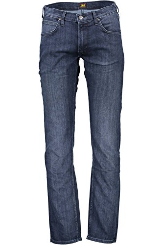 Lee Herren Straight Jeans Daren Zip Blu