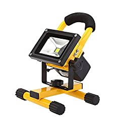 10W Rechargeable LED Portable Work Light, With Detachable High Capacity Battery , 8800mAh,900lm, Adapter And Car Charger Included, Waterproof, Outdoor Floodlight