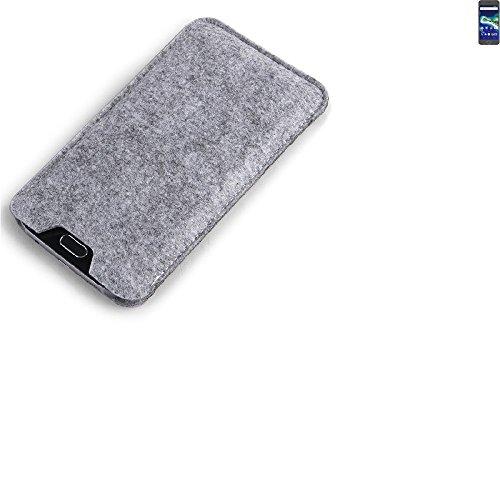 K-S-Trade Filz Schutz Hülle für General Mobile GM 6 Schutzhülle Filztasche Filz Tasche Case Sleeve Handyhülle Filzhülle grau