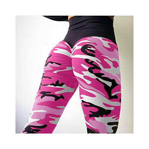 aoliaoyudonggha Women Camouflage Printed High Waist Sportswear Femme Elasticity Wrinkle Leggings -