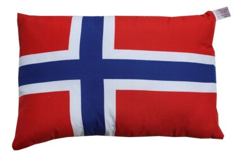 Norwegen Kissen Fan Artikel Auto Deko Norwegen beide Seiten bedruckt , ca. 28 x 40 cm. -