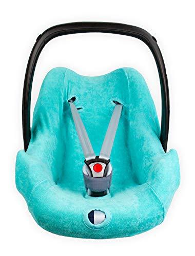 Briljant Baby - Autositzbezug 0 - Gruppe 0 gilt für das Alter von 0-12 Monaten - 100% Frotte hochwertige qualität - Türkis