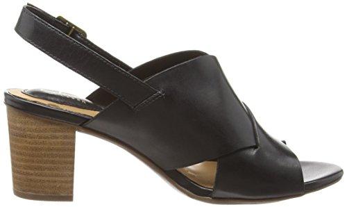 Clarks Ralene Vive Damen Knöchelriemchen Sandalen Schwarz (Black Leather)
