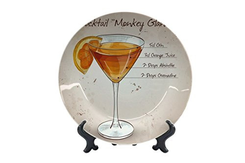 LEotiE SINCE 2004 Teller Bar Party Cocktail Monkey Island Keramik Bedruckt (Keramik Monkey)